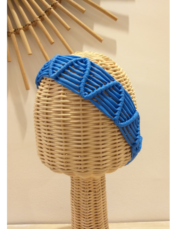 Vincha Macrame Azul