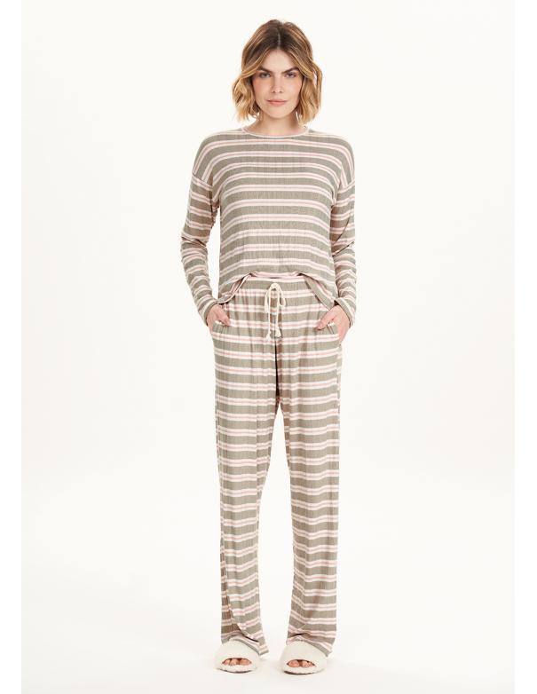 Pijama Manga Larga 12534