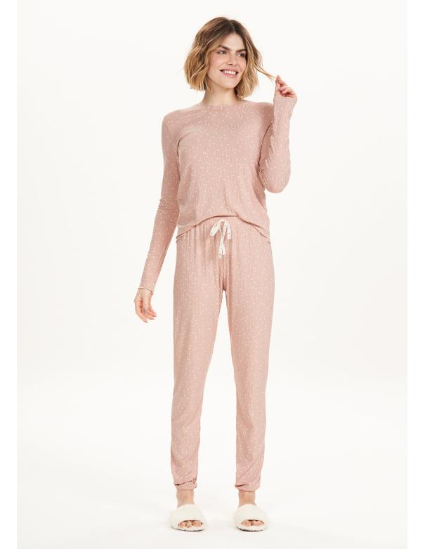 Pijama Nude Manga Larga 12684